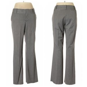 **Mossimo High Waisted Gray Striped Dress Pants